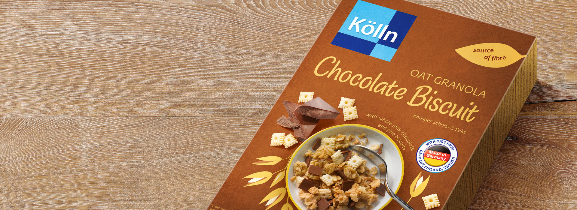 Koelln Oat Granola Chocolate Biscuit Pack on Table