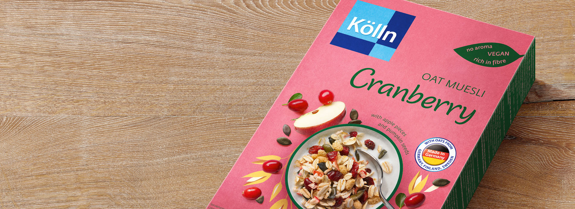 Koelln Oat Muesli Cranberry Pack on Table