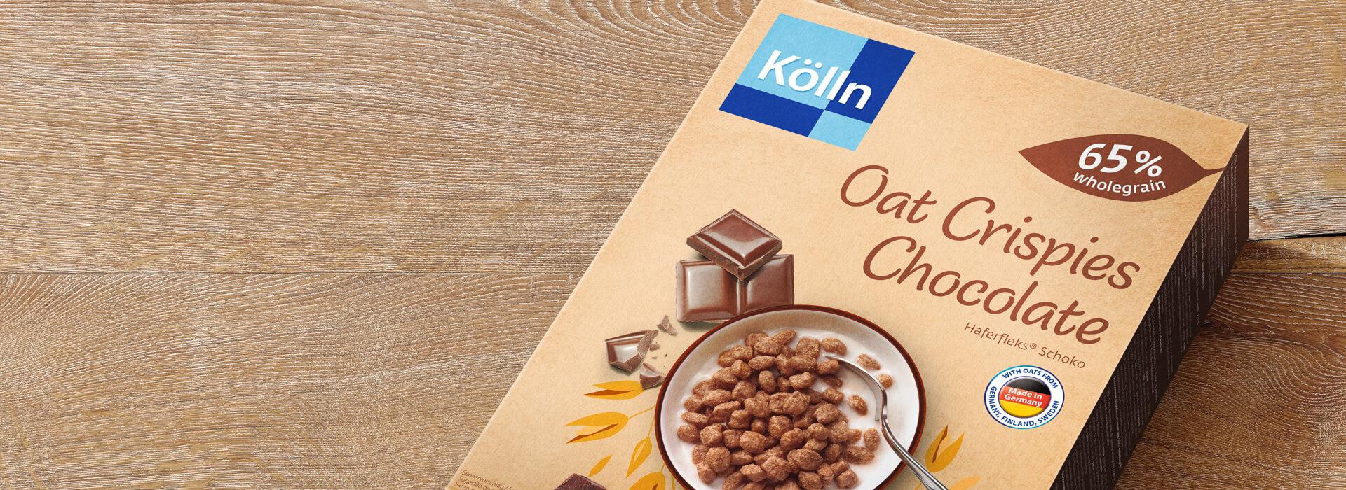 Koelln Oat Crispies Chocolate Pack on Table