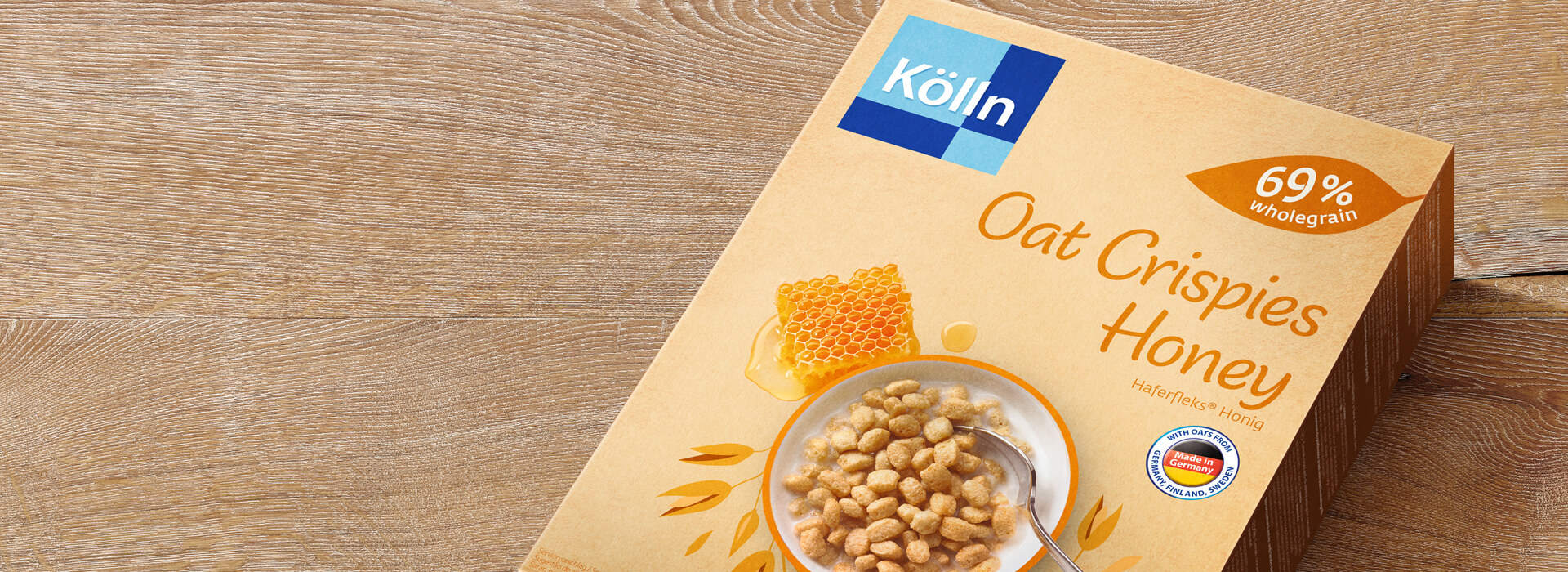 Koelln Oat Crispies Honey Pack on Table