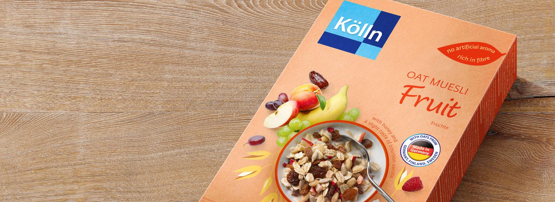 Koelln Oat Muesli Fruit Pack on Table