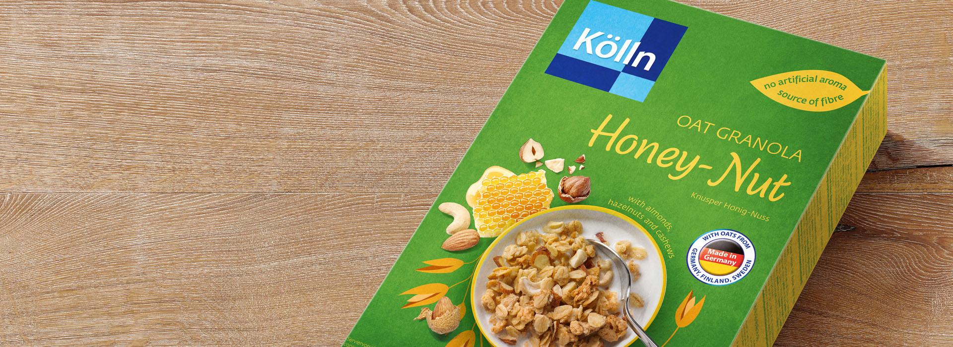 Koelln Oat Granola Honey-Nut Pack on Table