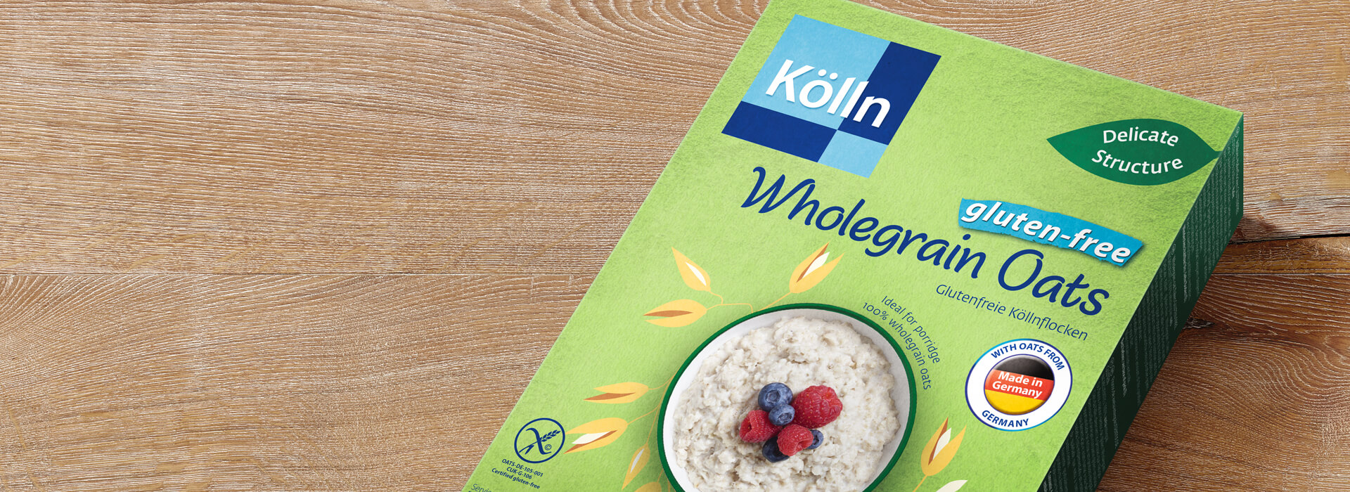 Koelln Wholegrain Oats gluten-free Pack on Table