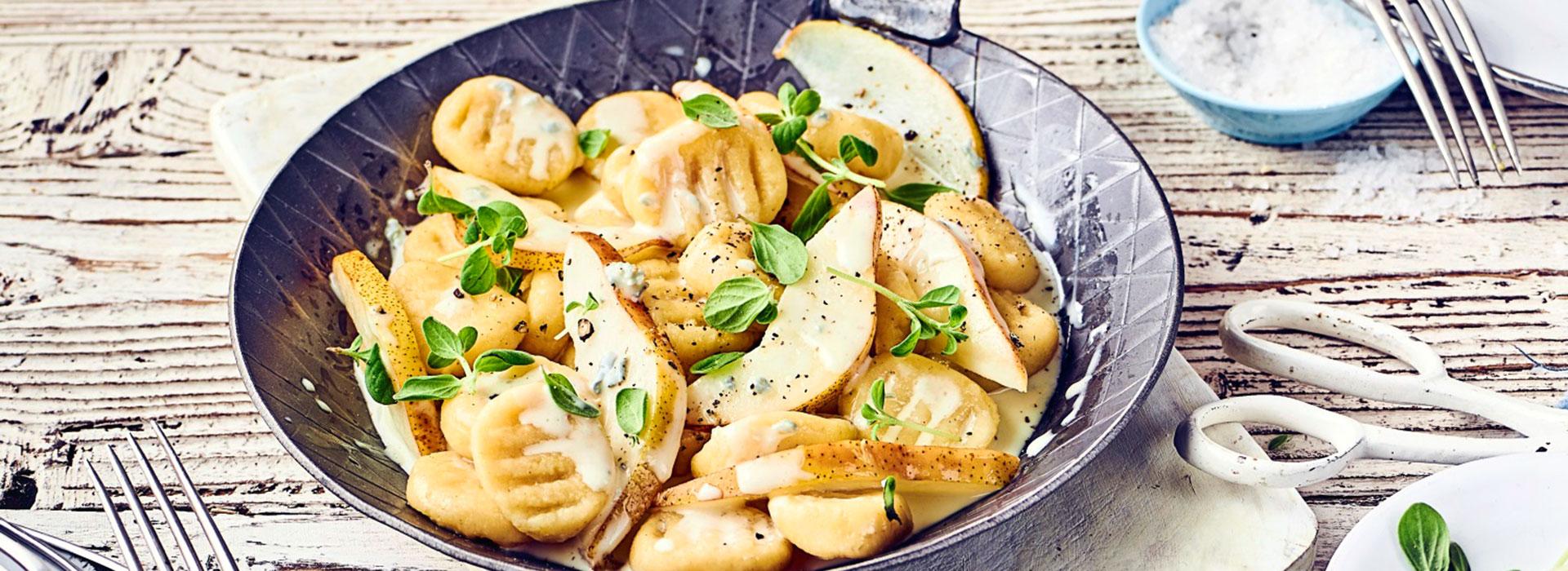 Koelln Savoury Gnocchi with Gorgonzola Pear Sauce